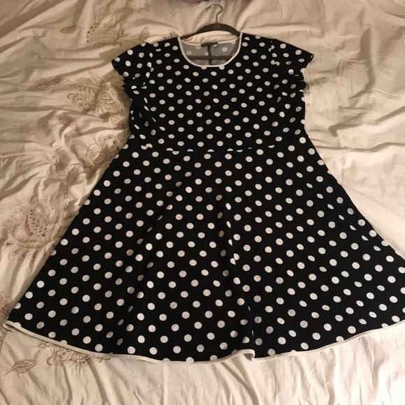 Plus size Polka dots Skater rockabilly dress